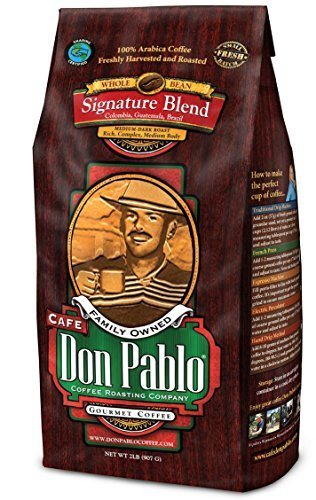 Cafe Don Pablo Signature Blend Coffee, Whole Bean, Medium-Dark Roast