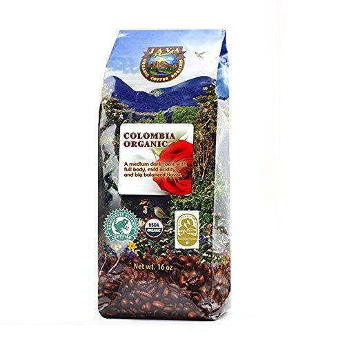Java Planet — Colombian USDA Organic Coffee Beans, Fair Trade, Low Acid, Medium Dark Roast, Arabica Gourmet Specialty Grade