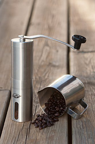JavaPresse Manual Coffee Grinder, Conical Burr Mill, Brushed Stainless Steel 04