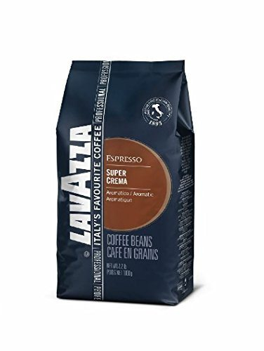 Lavazza Super Crema Whole Bean Coffee Blend, Medium Espresso Roast