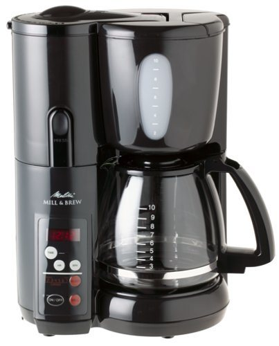 Melitta MEMB1B Mill & Brew 10-Cup Coffee Maker