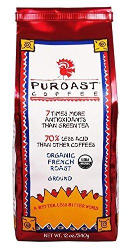 Puroast Low Acid Coffee Organic French Roast, 12 oz.