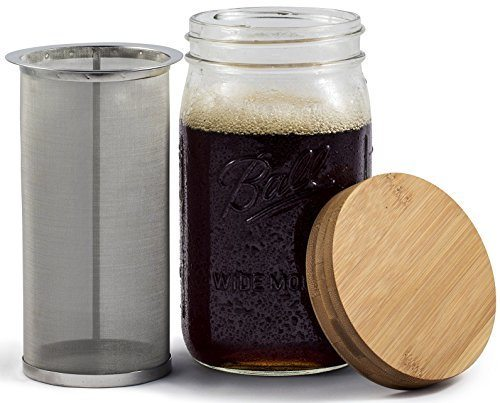 Simple Life Cycle Mason Jar Cold Brew Coffee Maker & Iced Tea Maker