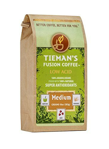 Tieman's Fusion Coffee, Low Acid Medium Roast, 10 oz. bag