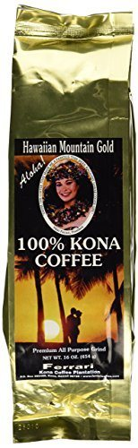 100% Kona Hawaiian Mountain Gold Coffee