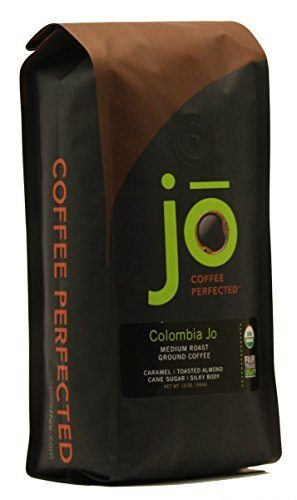 COLOMBIA JO 12 oz, Organic Ground Colombian Coffee, Medium Roast