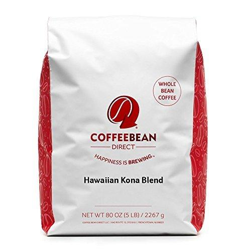 Coffee Bean Direct Hawaiian Kona Blend Coffee, Light Roast