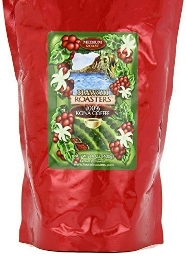 Hawaii Roasters 100% Kona Coffee, Medium Roast, Whole Bean