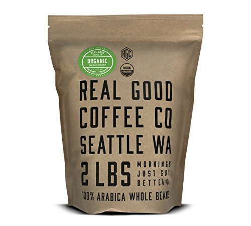 Real Good Coffee Co 2LB, Whole Bean Coffee, USDA Certified Organic Dark Roast