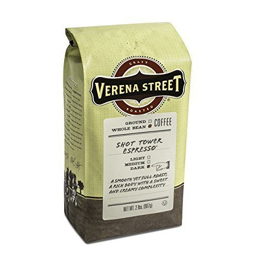 Verena Street 2 Pound Espresso Beans, Shot Tower Espresso Whole Bean