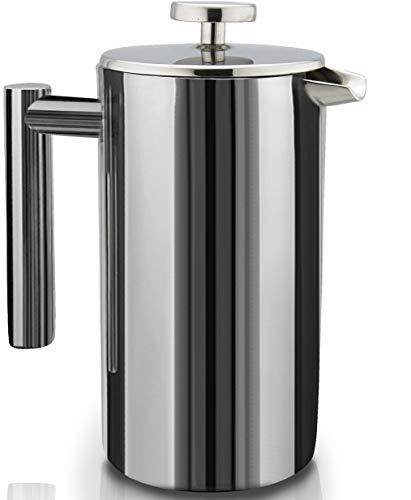 French Press Double-Wall Stainless Steel Mirror Finish (1L) Coffee Tea Maker