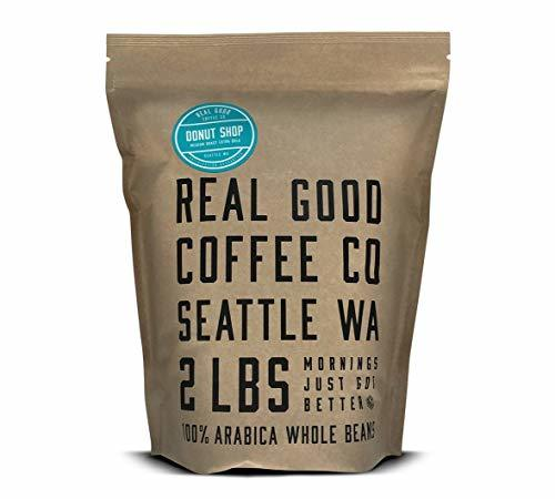 Real Good Coffee Co 2LB, Whole Bean Coffee, Donut Shop Medium Roast Coffee Beans, 2 Pound Bag