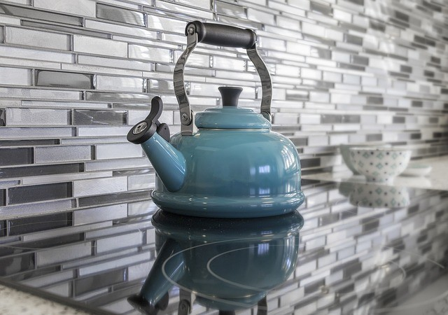 Blue Kitchen Teapot