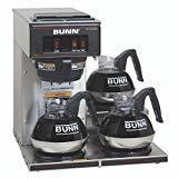 BUNN 13300.0003 VP17-3SS3L Pourover Commercial Coffee Brewer 160