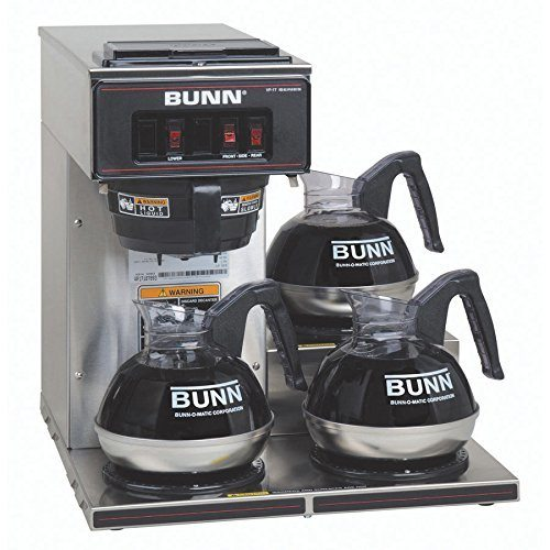 BUNN 13300.0003 VP17-3SS3L Pourover Commercial Coffee Brewer