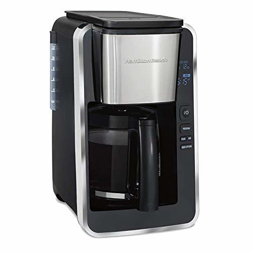 Hamilton Beach Programmable 12 Cup Coffee Maker Easy Front Access Deluxe