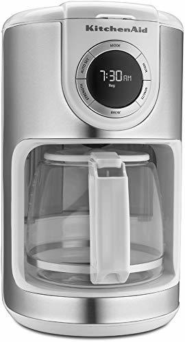 KitchenAid KCM1202WH 12-Cup Glass Carafe Coffee Maker