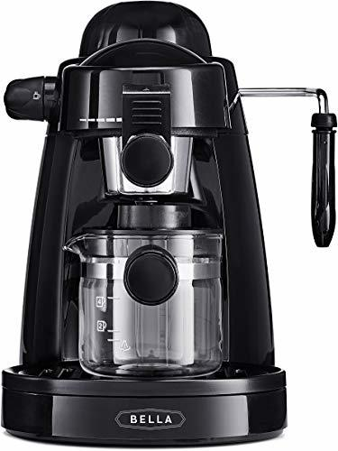 BELLA (13683) Personal Espresso Maker with Built-in Steam Wand