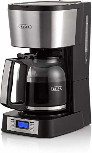BELLA (14755) 12 Coffee Maker with Brew Strength Selector & Single Cup Feature