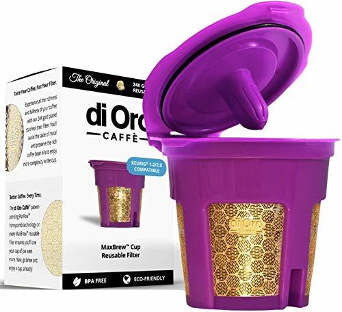 DI ORO - MaxBrew 24K GOLD K-Cup Reusable Filter for Keurig