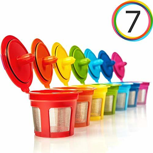 GoodCups 7 Reusable Rainbow Colors
