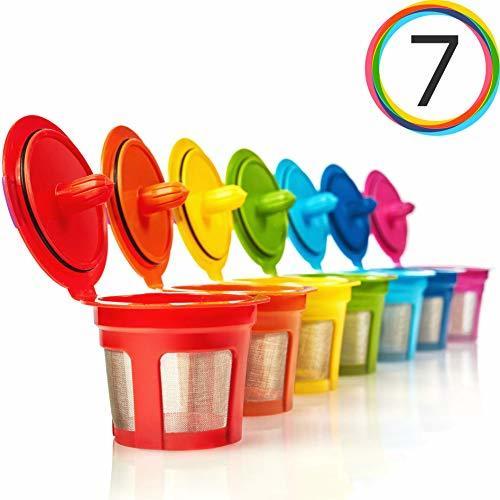 GoodCups 7 Reusable Rainbow Colors