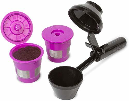 Perfect Pod ECO-Fill Reusable K-Cup Coffee Pod Filters and Coffee Scoop