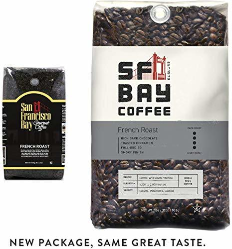 SF Bay Coffee French Roast Whole Bean 2LB Dark Roast