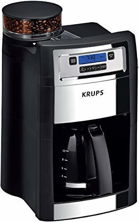 KRUPS KM785D50 Grind and Brew Auto-Start Maker with Builtin Burr Coffee Grinder
