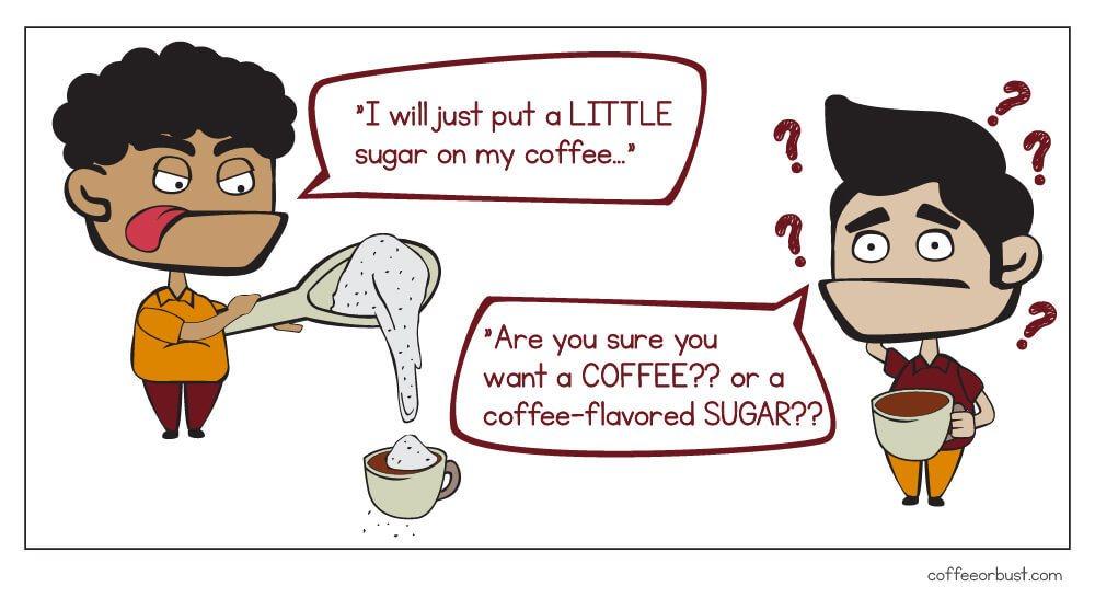 sugar on coffee