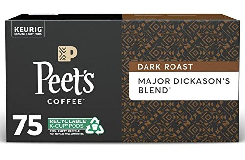 Peet's Coffee Major Dickason's K-Cup Coffee Pods